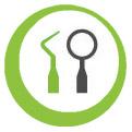Icon für professionelle Zahnbehandlung