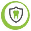 Icon für Schutz und Erhaltung gesundeer Zähne